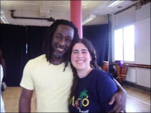 With Augusto Omolú in Bristol, 2008